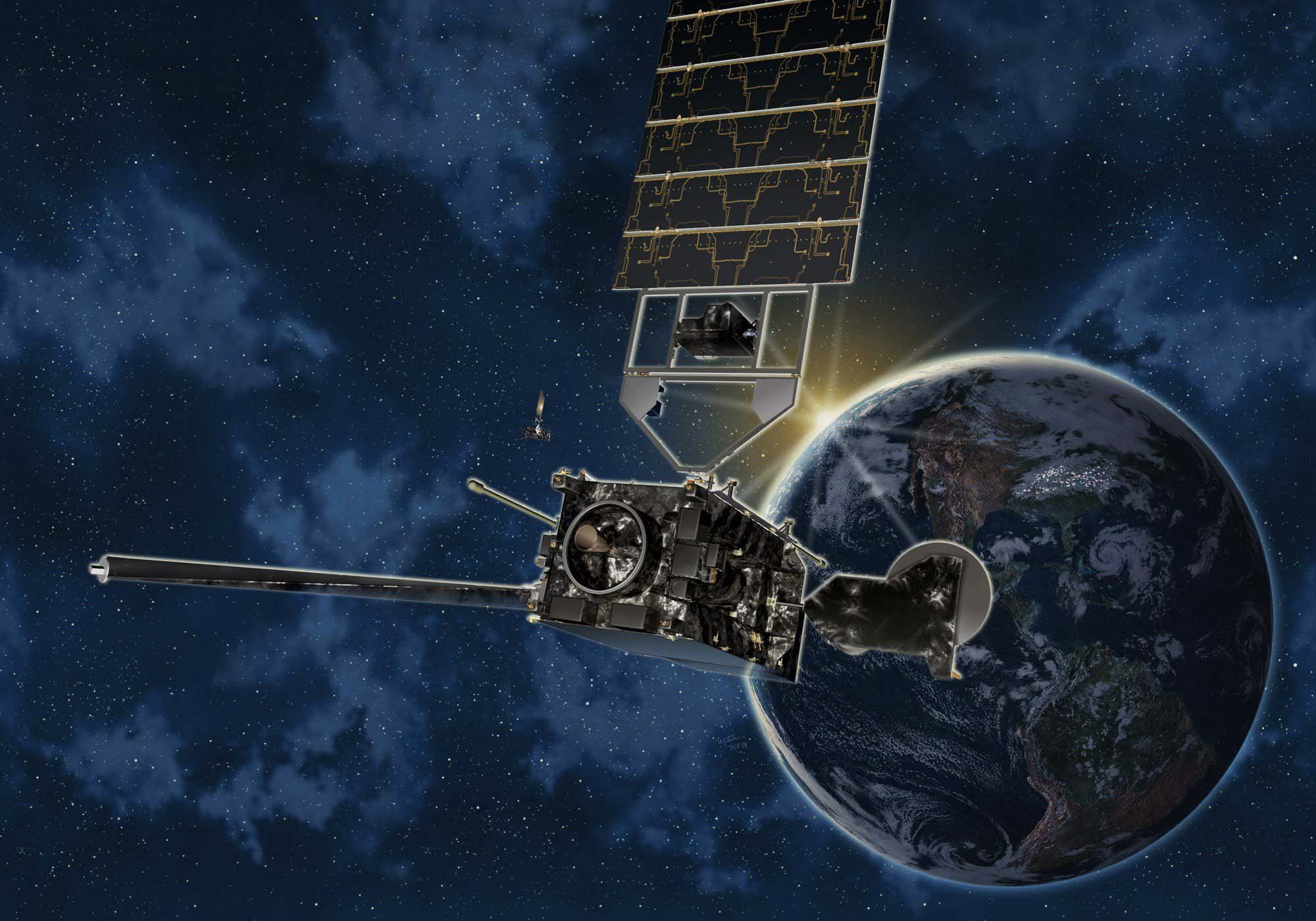 Artist image of GOES R satellite.